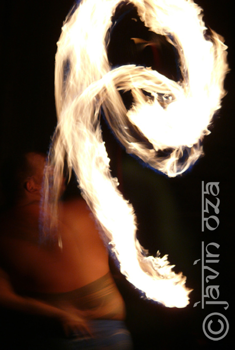 Fire dancer, Maui, Hawaii